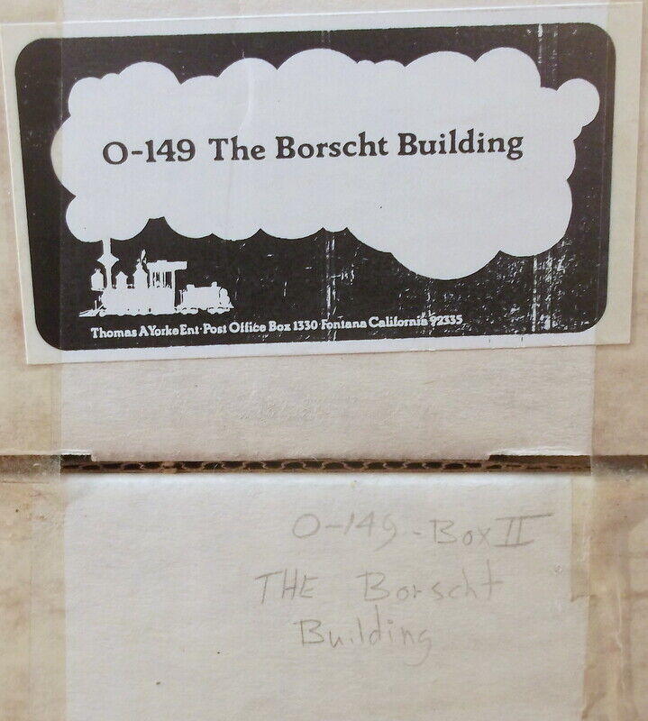 On3 On30 O CRAFTSMAN THOMAS YORK  BORSCHT BUILDING KIT  NEW UNSTARTED
