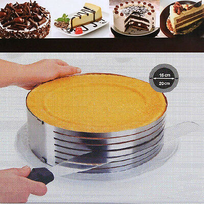 Stainless Steel Adjustable Layered Round Circle Cake Slicer Mould Cutter LD573