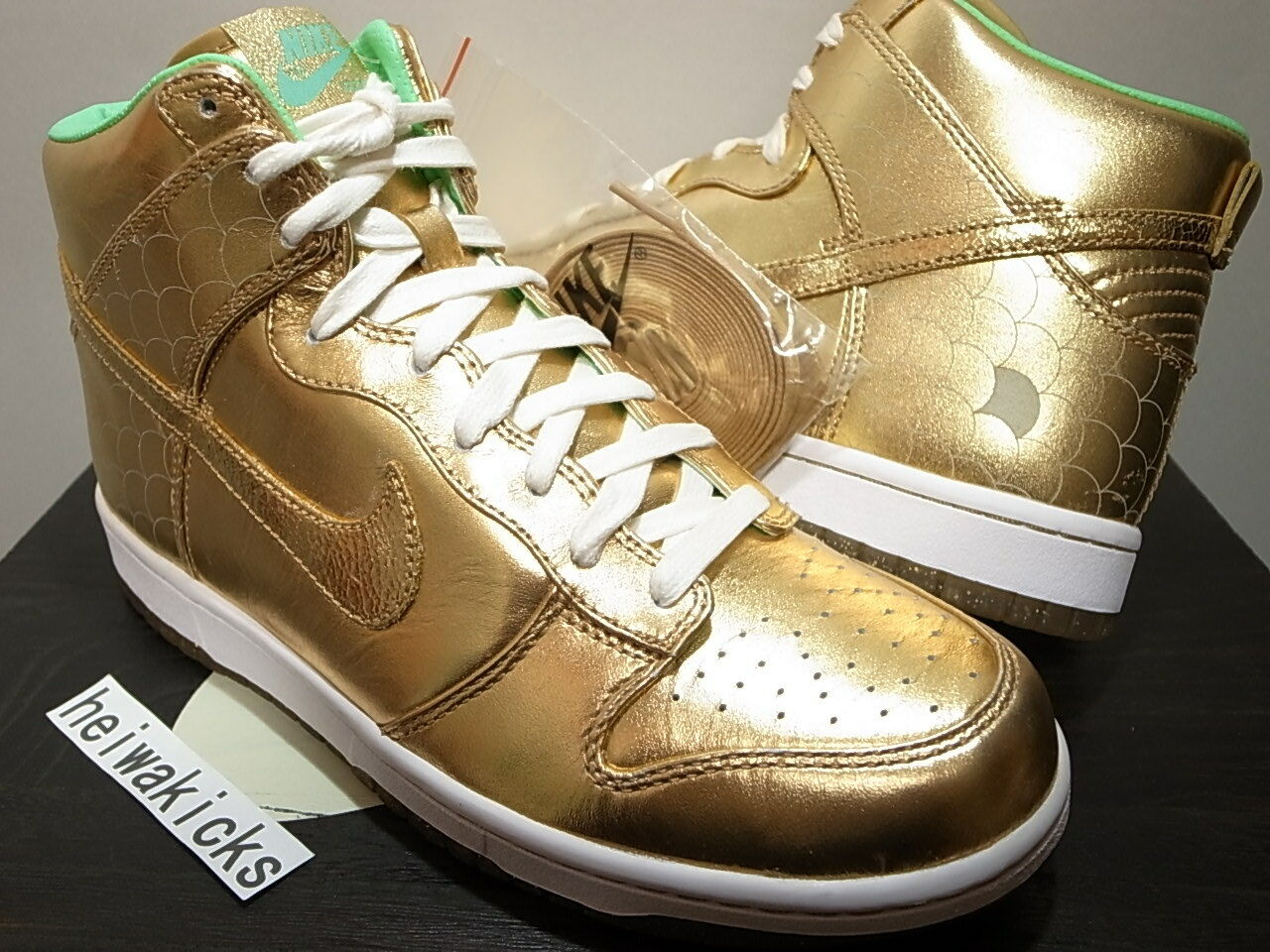 2008 NIKE DUNK HIGH CITY PREMIUM NAGOYA DOLPHIN JAPAN CITY HIGH ATTACK 323955-771 Taille 7.5 0e841c