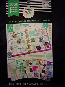 CREATE 365 Happy Planner LET LOVE FILL LIFE STICKER BOOK 1050pcs