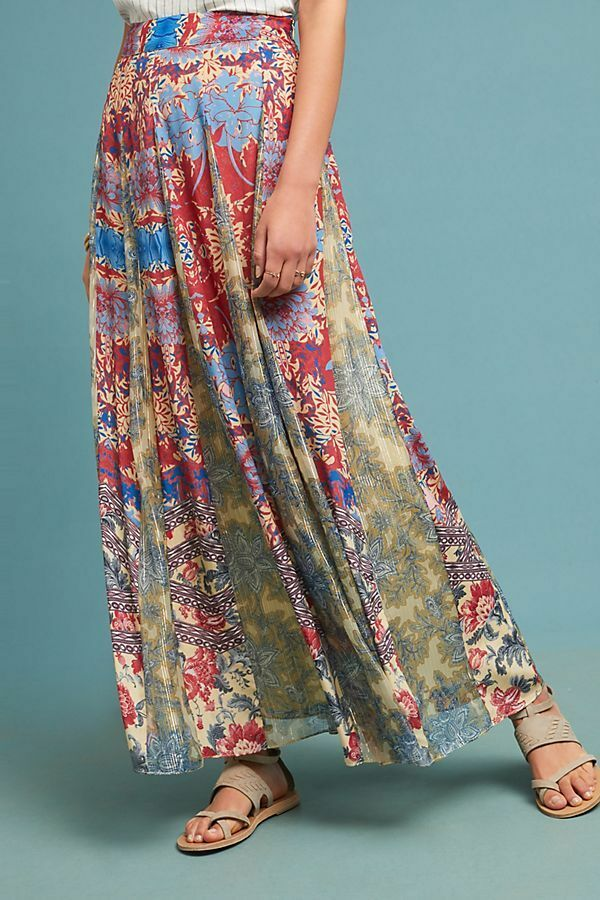 NWT ANTHROPOLOGIE LOUVRE MAXI SKIRT by HEMANT & NANDITA M