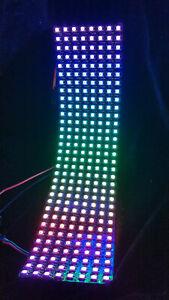 FLEXIBLE WS2812 Neopixel 8x32 RGB Addressable LED array panel CLONE UK Stock
