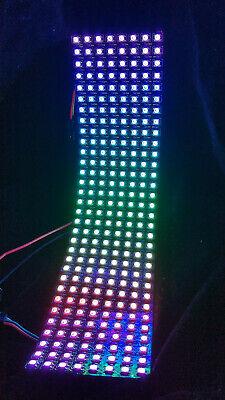 Neopixel flexible 8x32 RGB LED array panel clone, 256 WS2812B addressable  LEDs | eBay
