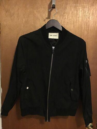 Our Legacy Black Flight Jacket size 46