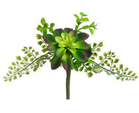 Succulent & Fern 11 Artificial Plant Pick Greenery Wedding Bouquet Flowers