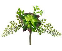 Succulent & Fern 11 Artificial Plant Pick Greenery Wedding Bouquet Flowers