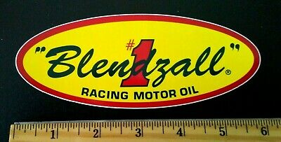 BLENDZALL #1 RACING MOTOR OIL PEEL OFF STICKER DECAL NEW OLD STOCK
