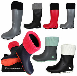 95ff17f5d5ef Image is loading Ladies-Butterfly-Twists-Wellington-Boots-Rain-Boot-Wellies-