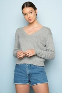 brandy-melville-heather-gray-v-neck-crop-leigh-sweater-NWT-sz-S