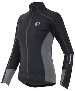 Pearl-Izumi-Women-039-s-Elite-Pursuit-Softshell-Jacket-Black-Smoked-Pearl-Small