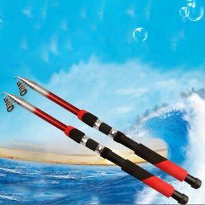 Hard Carbon Spinning Rod Fiber Fishing Rod Travel Spinning Rod Tackle Pole US