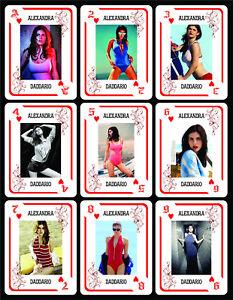 Alexandra Daddario 1 Box With 54 Poker Playing Cards Argentina Nib Ebay