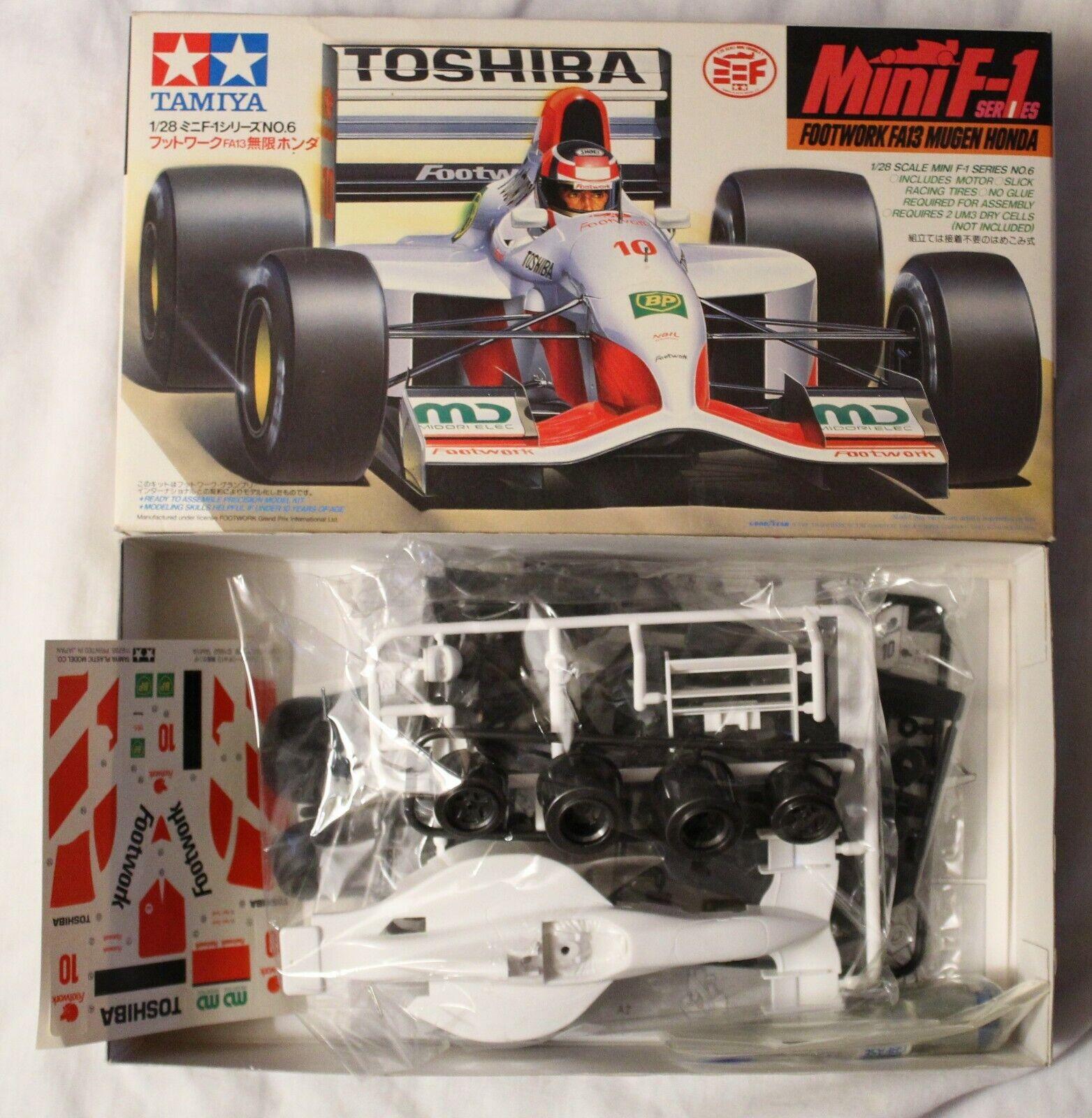 Tamiya Footnlavoro Fa13 Mugan Honda 1 28 kit di modellolololo di auto in plastica