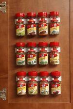 Kitchen RV Spice Gripper Clip Strip 12 Jar Rack Storage Holder Wall Cabinet Set3