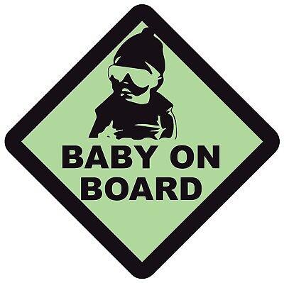 Audace Baby A Bordo Di Sicurezza Avvertimento Segno Sticker Vinyl Decal Per Auto Veicolo Finestra- Ultima Tecnologia