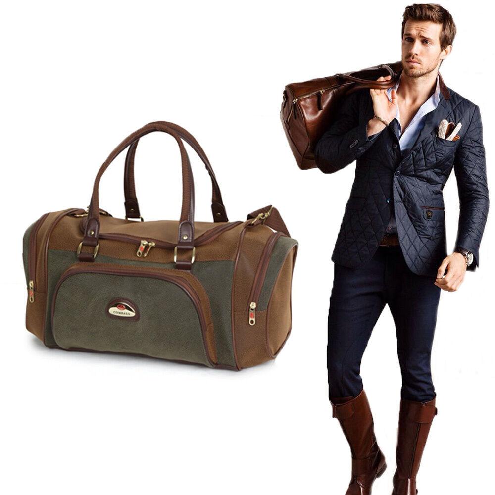 Mens Holdall Duffle Bag Gym Smart Travel Plane Luggage Shoulder ...