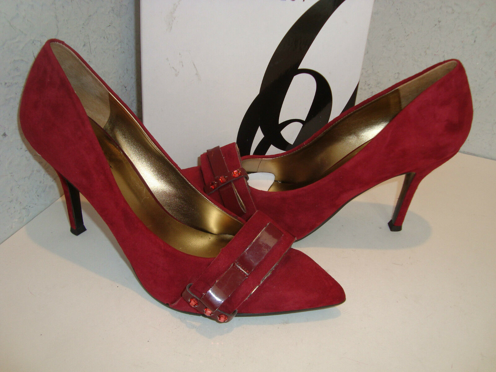 Nine West NEU Damenschuhe Francess ROT Wine Pumps Schuhes 6 Medium