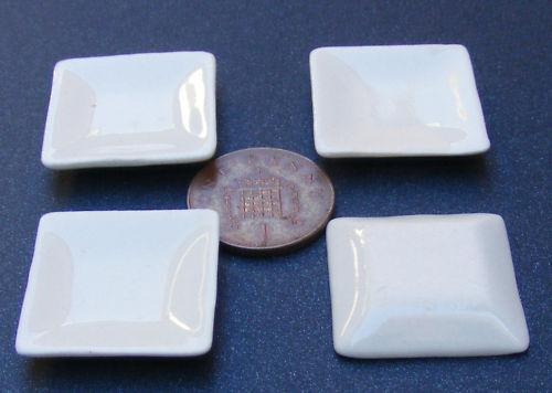 Escala 1:12 placas de cerámica cuadrada de 4 Crema 2.5cm tumdee casa de muñecas en miniatura de Cr21