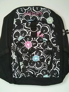 Pottery Barn Pb Teen Black White Floral Gear Up Large