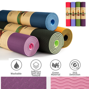 Top-Quality-Exercise-Yoga-Pad-Mat-Non-Slip-Durable-Pilates-Physio-Fitness-Gym