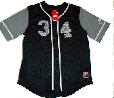 9961dda5c Nike Mens 34 Retro Football Jersey Button up Shirt 724484 Large L ...