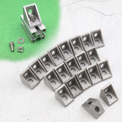 20x T-slot 2 Loch Eckwinkel Kit 90 Grad Rechtwinklig L Form 20 Serie Klammern