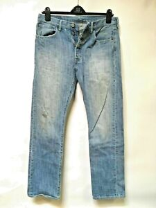 Levi-039-s-501-Jeans-Distressed-Faded-Hippie-Boho-chic-Hobo-punk-Denim-34x32