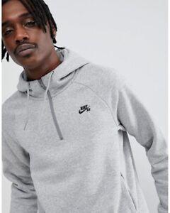 Nike cappuccio Sb Zip Felpa Grigio con 929147 Taglia 063 Half Media Eq5x64A4w