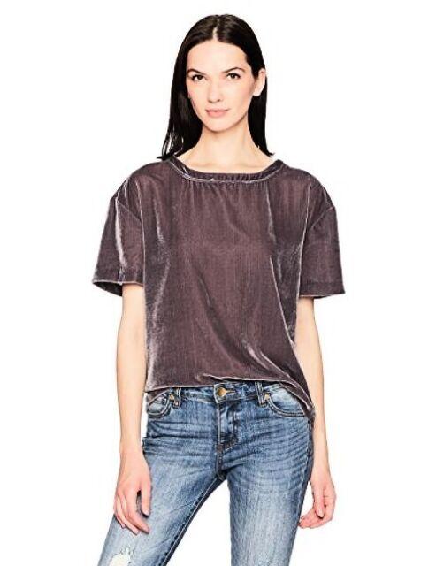 Calvin Klein Jeans Womens Short Sleeve Velvet Crew Neck T Shirt Pick SZColor.