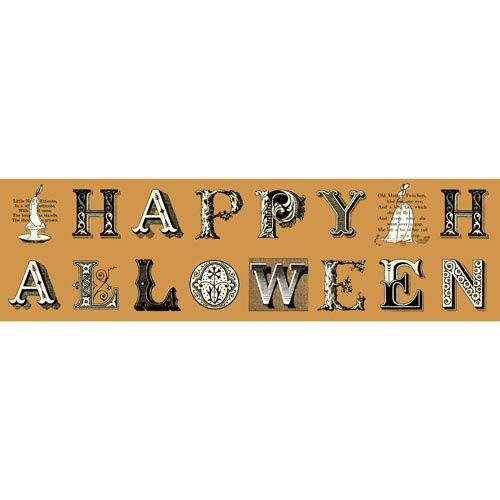 Sew Scary Halloween Greetings Lettering 1//3 yard  Cotton Novelty Quilt Fabric