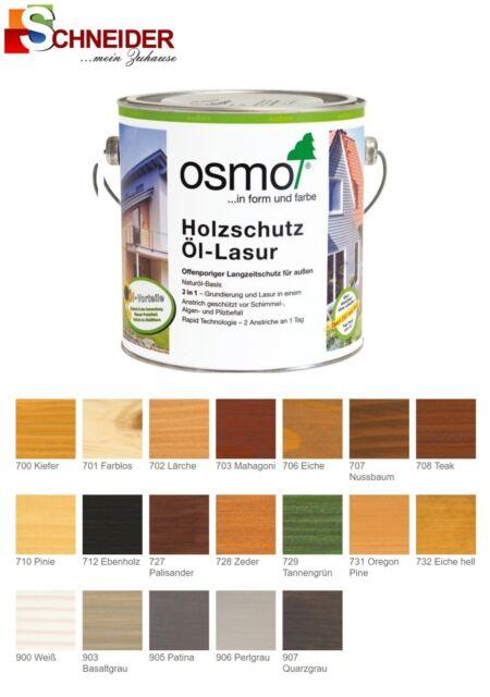 Osmo Holzschutz Ol Lasur 2 5l Larche 702 Ebay