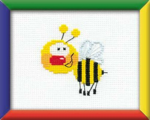 RIOLIS  HB001  COUNTED  CROSS STITCH  KIT LITTLE BEE