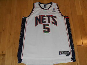 VINTAGE REEBOK JASON KIDD WHITE NEW JERSEY NETS  5 NBA TEAM SWINGMAN ... 235970314