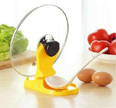 Useful Spoon Pot Lid Shelf Cooking Storage Kitchen Decor Tool Stand Holder