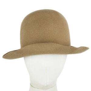 Nehera-by-Reinhard-Plank-Hand-Moulded-Felted-Khaki-Wool-Hat-L