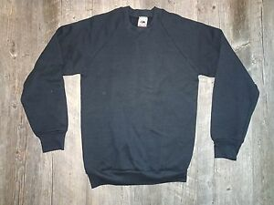 Small NEW Fruit of the Loom Crew Neck Sweatshirt Black