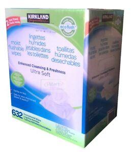 632-Kids-Family-Flushable-Wipes-Bulk-Wet-Moist-Vitamin-E-Aloe-Towelettes-New