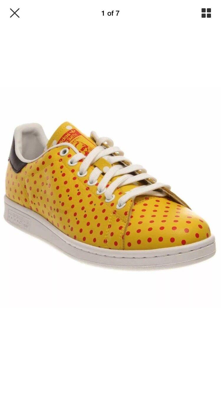 Adidas stan zusammenarbeit smith pharrell williams zusammenarbeit stan gelbe größe 13 polka dot a0e79c