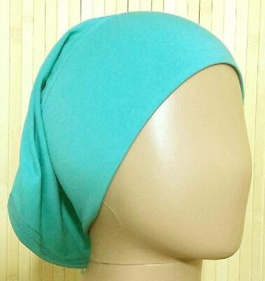 2019 Neuer Stil Islam-abaya- Kopftuch-hijab : Schlauchbone Aus 100% Cotton In Hell TÜrkisgrÜn HüBsch Und Bunt