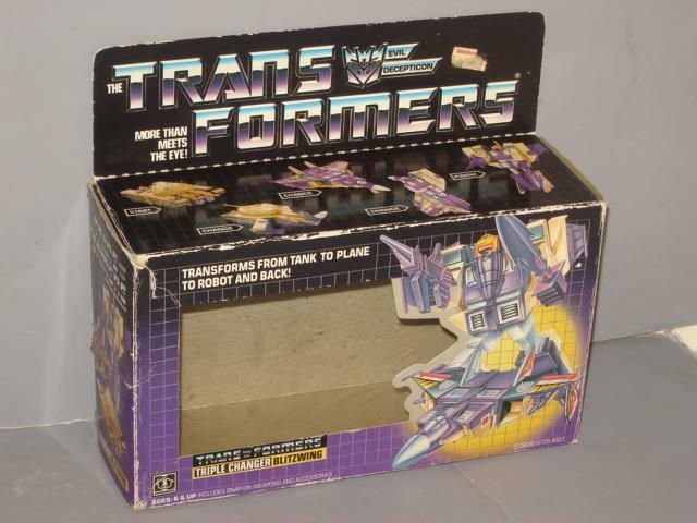 G1 TRANSFORMER TRIPLE CHANGER BLITZWING EMPTY BOX LOT   3