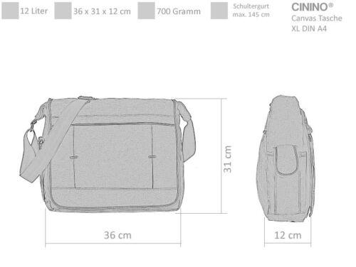Kuriertasche CININO CANVAS XL A4 Tasche Messenger Schultertasche 6245 WAHL Etui