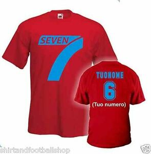 T-Shirt-Seven-MILA-e-SHIRO-SEVEN-FIGHT-Tutte-le-taglie-100-Cotone-Colore-Rosso