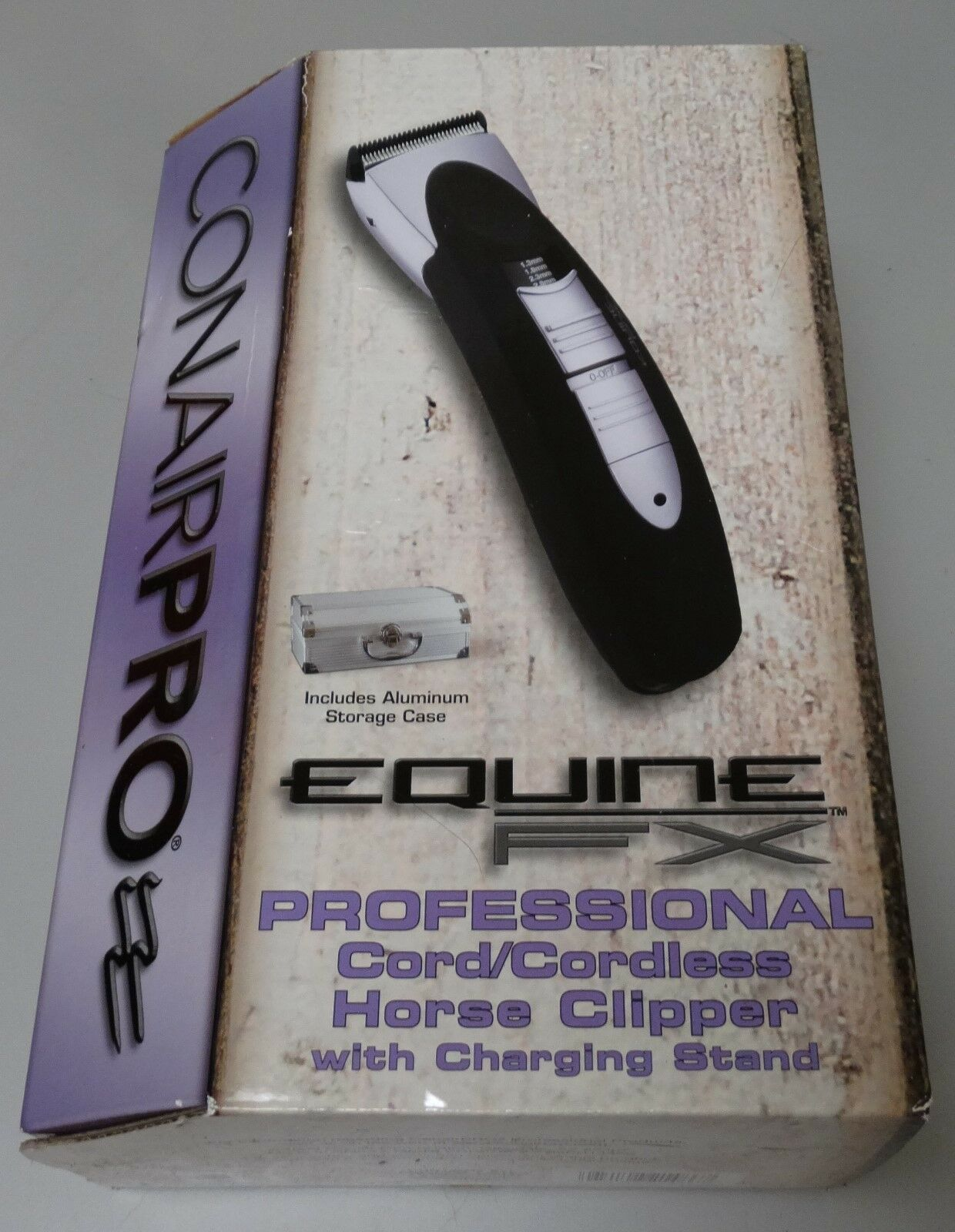 NEW Conair Pro Equine FX Professional Cord/Cordless Horse Clipper Charger Case