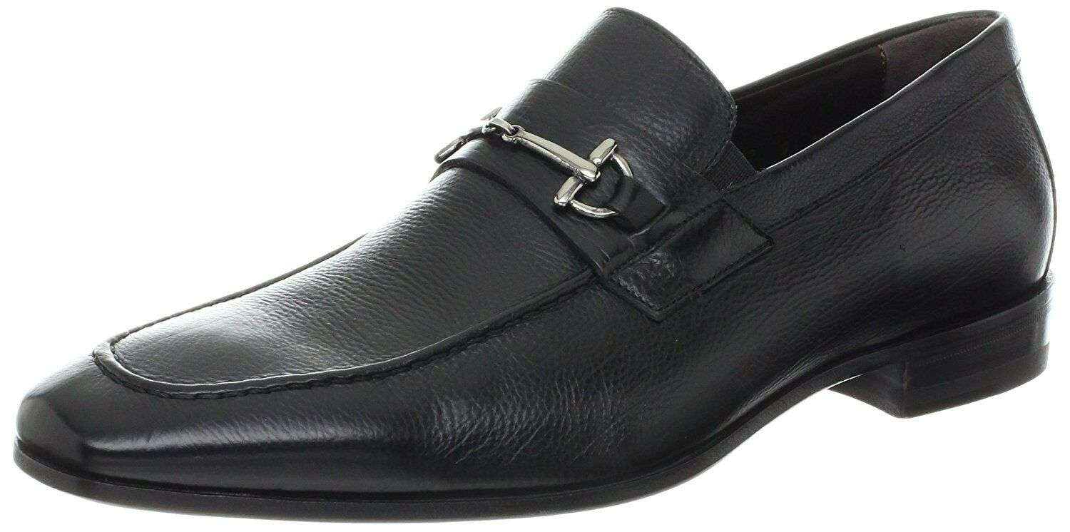 Bruno Magli Men's Mamante Black Leather Bit Handmade Italian Loafer Dress shoes