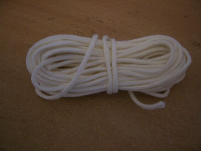 """5 Metre Cotton Braided Candle Wick - for 1.3/4"""" to 2"""" (43mm-50mm) (MBC-2)"""