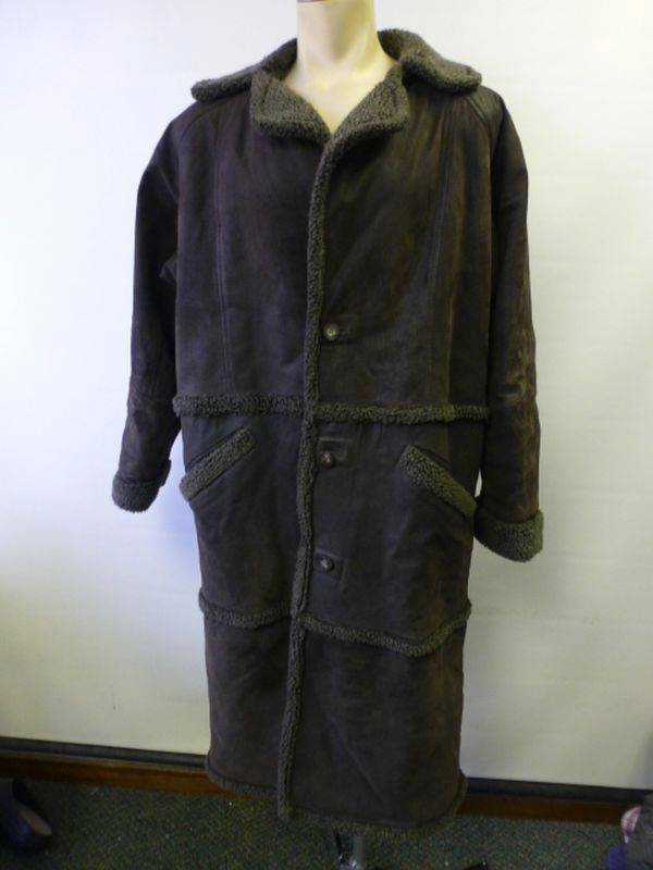 Mens Adventure Bound Wilsons Leather sherling sherpa fleece lined Coat sz Medium