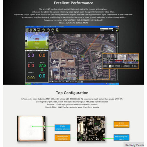 Radiolink Mini PIX M8N GPS Flight Control Vibration Damping By Software Atitude