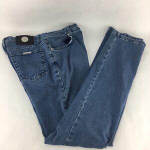 Trussardi-Jeans-Blue-Denim-Fitted-hip-Slim-fit-Size-32