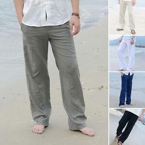 talla-grande-hombre-forrado-Holgado-Pantalones-largos-playa-Elastico-Yoga