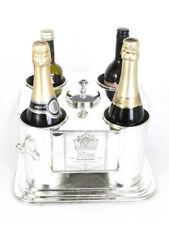 French Silver Plated 4 Bottle Wine Cooler / Ice Bucket